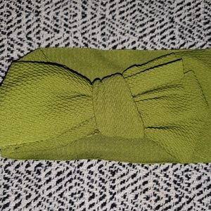 Handmade Accessories - Green Bow